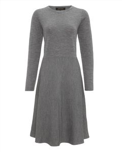 Flared Hem Knitted Dress - Jaeger Outlet at GWA - Now: £59.00