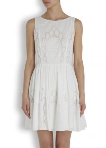 Alice + Olivia laser-cut dress, £385