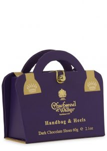 Charbonnel et Walker Handbag & Hee ls dark chocolate shoes, £7.50