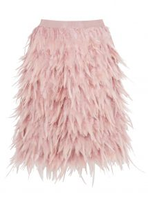 DKNY blush feather skirt, £300