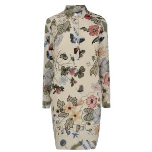 GUCCI Floral Crepe Shirt Dress - £815