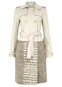 Michael Michael Kors print tren ch coat - was £315, now £155