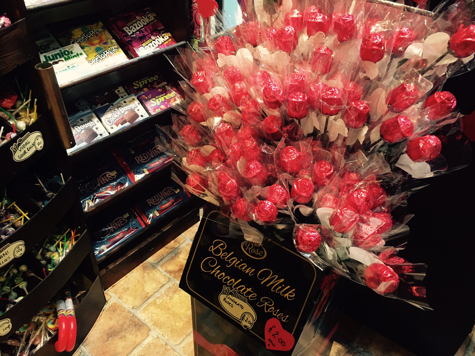Mr Simms Sweet Shop chocolate roses