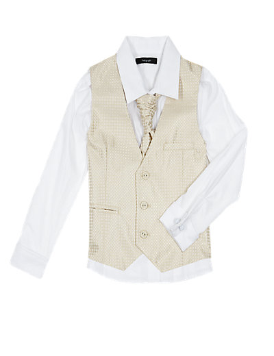 3 Piece Waistcoat, Shirt & Cravat Outfit (1-10 Years) £20-£24