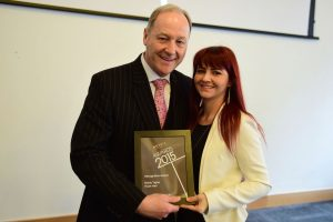 w177 Recognition Award, Jonathan Cheetham (Retail Birmingham) and Hollie Tighe (hush Hair)