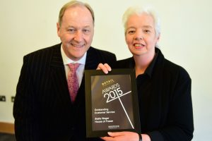 w203 Recognition Award, Jonathan Cheetham (Retail Birmingham) and Stella Wager (House of Fraser)