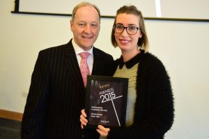 w208 Recognition Award, Jonathan Cheetham (Retail Birmingham) and Nicole Brook (Hush Hair)